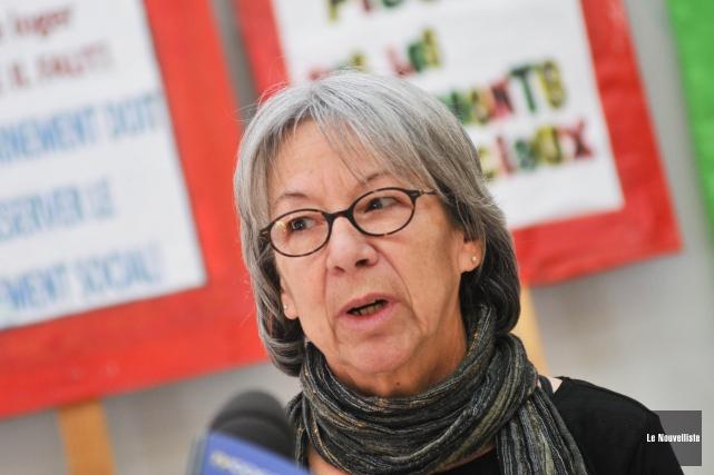 Diane Vermette, coordonnatrice du Comité logement de Trois-Rivières.... (Photo: Émilie O'Connor Le Nouvelliste)