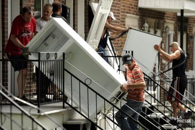 L'aide fédérale versée pour des logements sociaux au... (Photo Bernard Brault, archives La Presse)