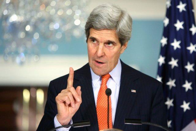 Le secrétaire d'État américain, John Kerry.... (Photo Jonathan Ernst, Reuters)