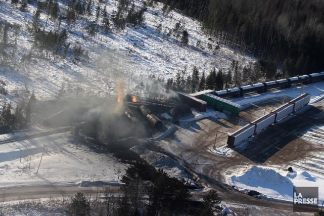 Dix-sept wagons du CN ont déraillé mardi près... (Photo: PC)