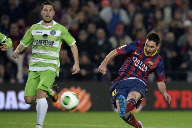 Lionel Messi a brillé pour son retour à la compétition mercredi après deux mois... (Photo: AFP)