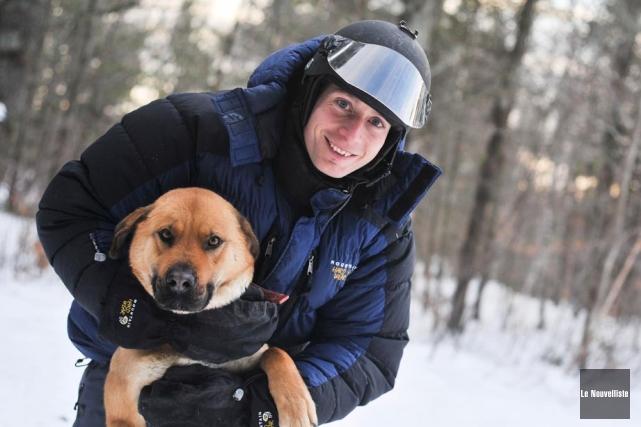 L'aventurier Frédéric Dion et sa chienne Nanook passeront... (Photo: Émilie O'Connor, Le Nouvelliste)