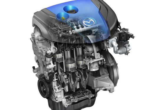 Le quatre-cylindres turbodiesel (2,2 L) SkyActiv-D.... (Photo fournie par Mazda)