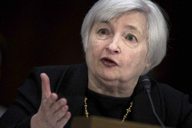 Janet Yellen, qui va remplacer Ben Bernanke à la tête de la Réserve fédérale le... (PHOTO AFP)
