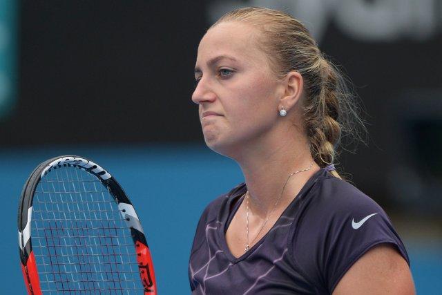 La Tchèque Petra Kvitova s'est inclinée face à... (Photo Greg Wood, AFP)