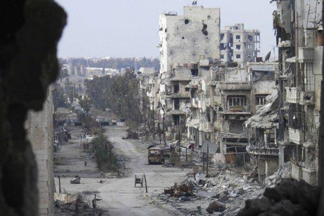 La ville de Homs.... (Photo Reuters)