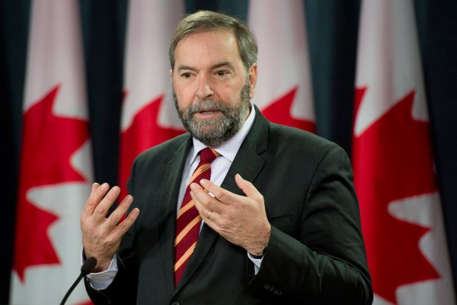 Le chef du Nouveau Parti démocratique, Thomas Mulcair.... (PHOTO ADRIAN WYLD, ARCHIVES LA PRESSE CANADIENNE)
