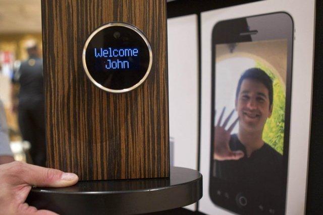 La serrure sent quand le téléphone intelligent de... (PHOTO STEVE MARCUS, REUTERS)