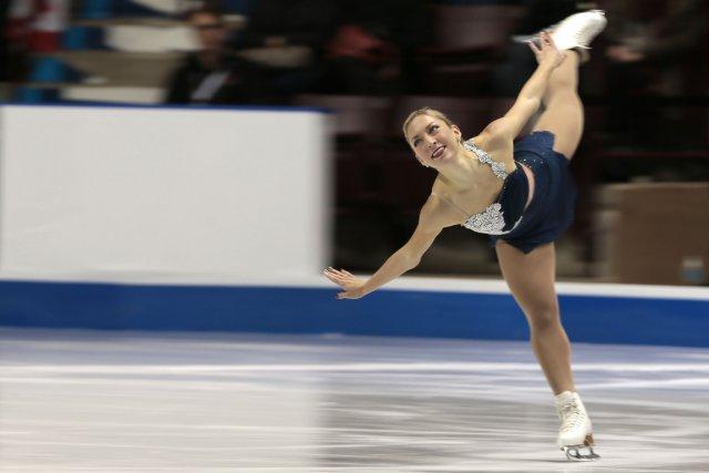 Amélie Lacoste cherchera à reprendre le titre féminin... (Photo Geoff Robins, archives AFP)