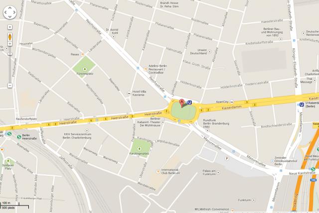 Pendant quelques heures, jeudi, la voie bordant au... (Photo Google Maps)