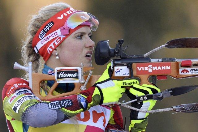 Gabriela Soukalova... (Photo Christof Stache, AFP)