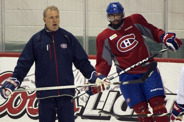 Michel Therrien a cloué P.K. Subban sur le... (Photo Ryan Remiorz, PC)