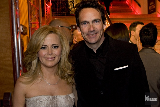Pierre Karl Péladeau et Julie Snyder... (Photo: Robert Skinner, archives La Presse)