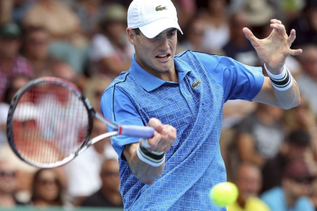 John Isner... (PHOTO MICHAEL BRADLEY, AFP)