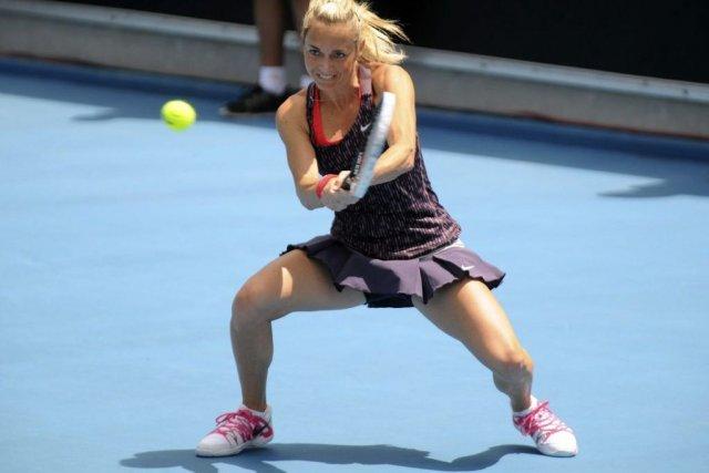 La Tchèque Klara Zakopalova (photo) a été incapable... (Photo Chris Crerar, AP)