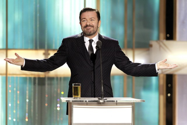 Ricky Gervais... (Photo Paul Drinkwater, archives REUTERS)