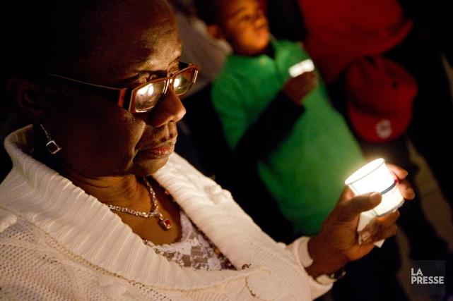 Commémoration en hommage aux victimes du tremblement de... (PHOTO IVANOH DEMERS, ARCHIVES LA PRESSE)