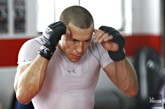 Georges St-Pierre a annoncé à la fin du... (Photo: David Boily, La Presse)