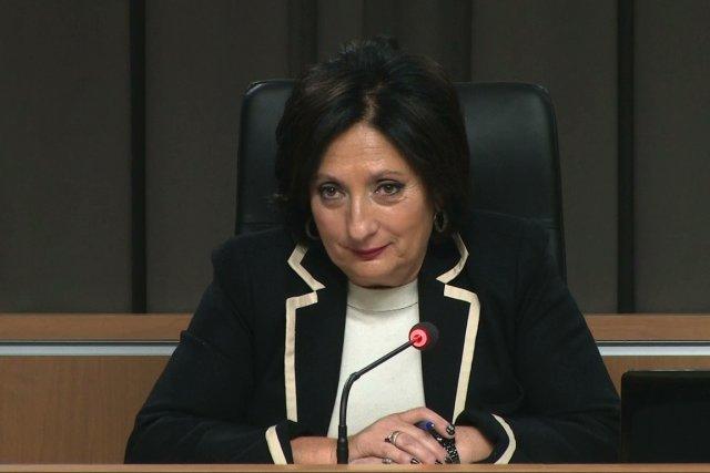 La juge France Charbonneau, présidente de la commission.... (IMAGE TIRÉE D'UNE VIDÉO)