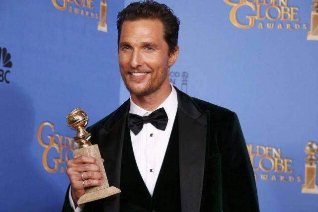Matthew McConaughey (photo) a remporté la statuette du... (Photo: Reuters)