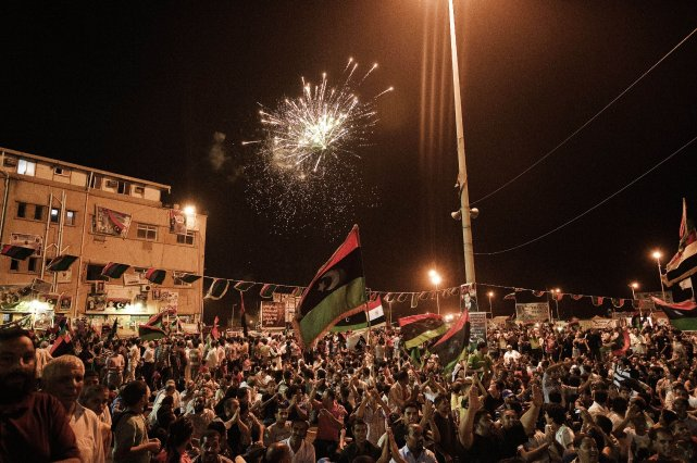 Les Libyens ont l'habitude de célébrer la fête... (Photo GIANLUIGI GUERCIA, Archives AFP)