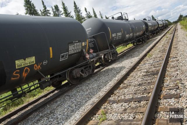 Les wagonsDOT-111 sontceux impliqués dans la tragédie ferroviaire... (PHOTO EDOUARD PLANTE-FRÉCHETTE, ARCHIVES LA PRESSE)