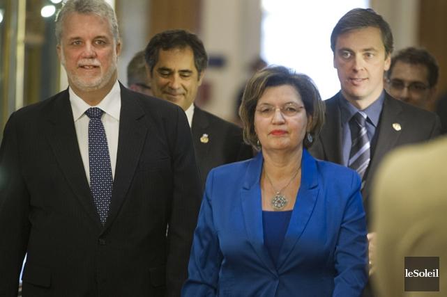 De gauche à droite, le chef du Parti... (Photothèque Le Soleil)