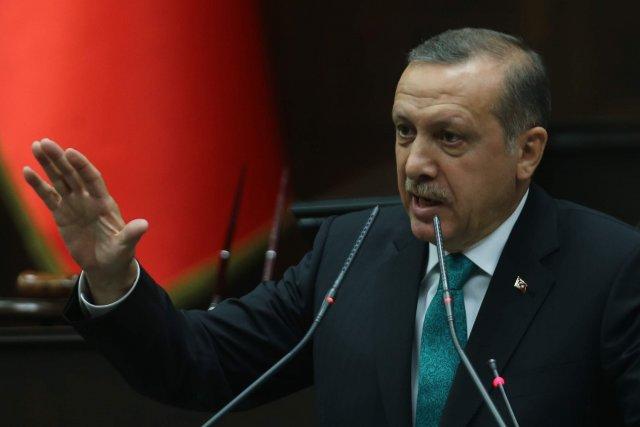 Le premier ministre turc Recep Tayyip Erdogana une... (Photo ADEM ALTAN, AFP)