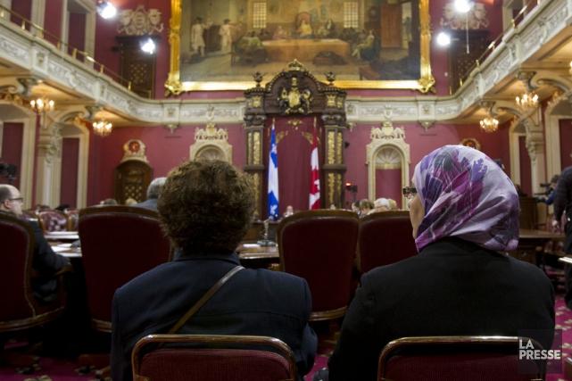 La commission parlementaire sur le projet de charte.... (Photo La Presse)