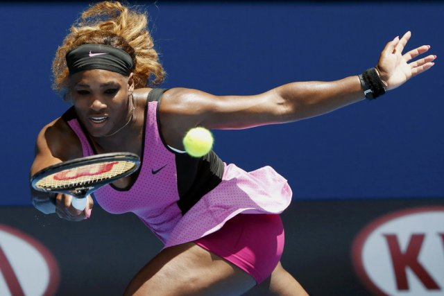 Serena Williams n'a fait qu'une bouchée de son... (Photo Jason Reed, AP)