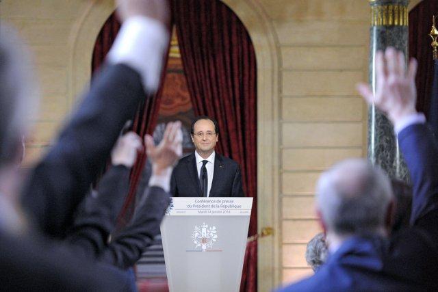 François Hollande s'est livré mardi à une longue... (PHOTO ALAIN JOCARD, AFP)