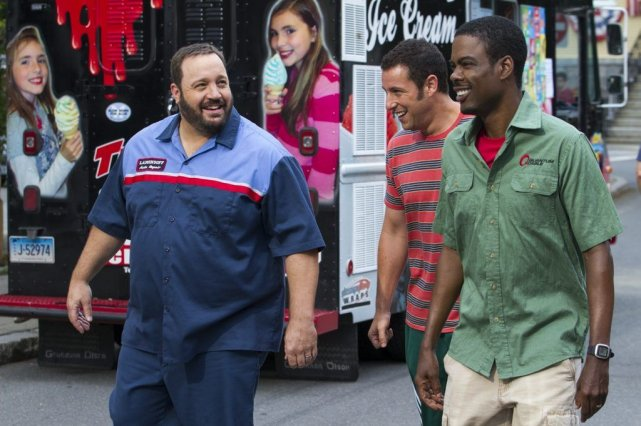 Grown ups 2 met en vedette Adam Sandler,... (Photo Tracy Bennett, AP)