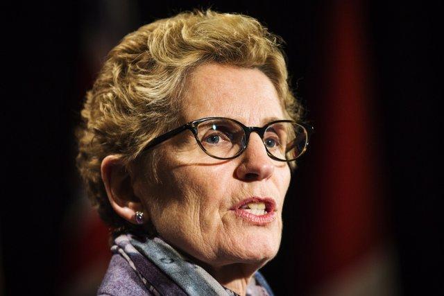 La première ministre de l'Ontario, Kathleen Wynne.... (Archives, La Presse Canadienne)
