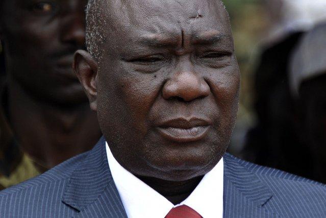 Michel Djotodia, porté au pouvoir en mars 2013... (Photo SIA KAMBOU, AFP)