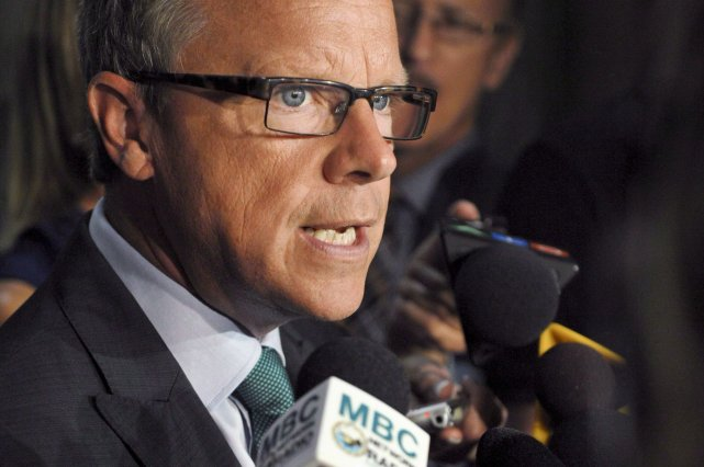Le premier ministre de la Saskatchewan, Brad Wall, a fait... (Photo Michael Bell, PC)