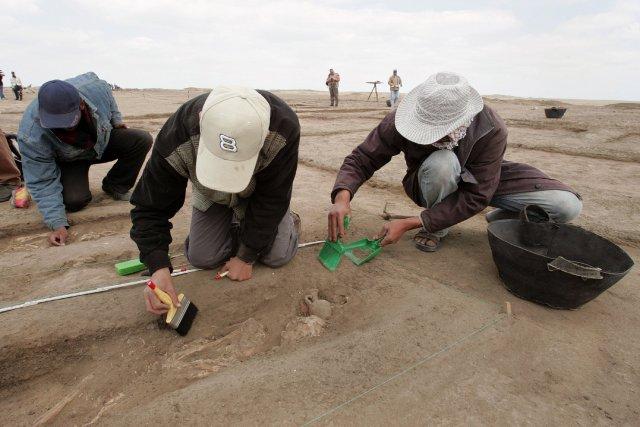 L'équipe d'archéologues a été en mesure de déterminer... (Photo CRIS BOURONCLE, Archives AFP)