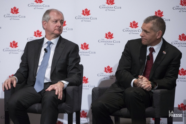 Deux des plus importants acteurs de l'industrie pétrolière:... (Photo Chris Young, PC)