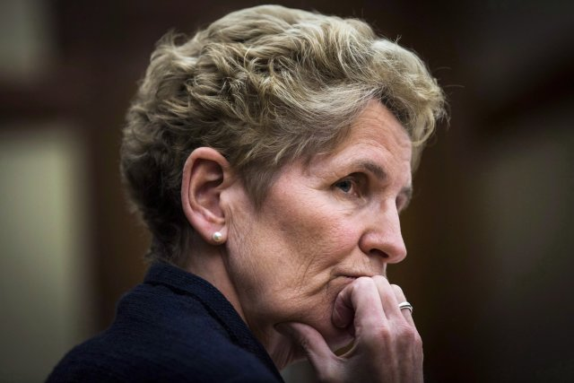 La première ministre de l'Ontario Kathleen Wynne... (Photo Mark Blinch, PC)