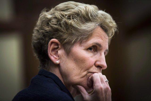 La première ministre de l'OntarioKathleen Wynne... (Photo Mark Blinch, PC)