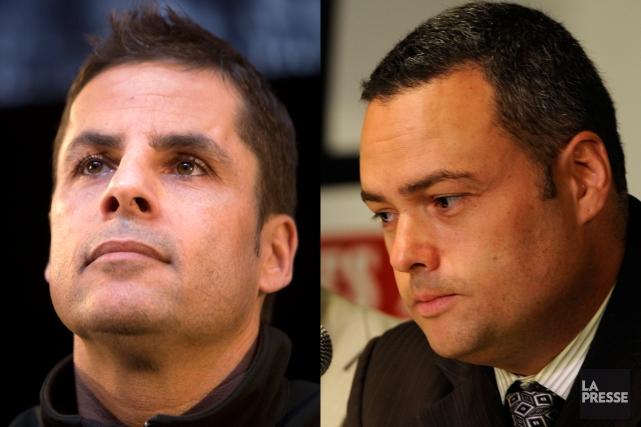 Stéphan Larouche et Marc Ramsay sont considérés comme... (Photos Bernard Brault et Robert Skinner, La Presse)