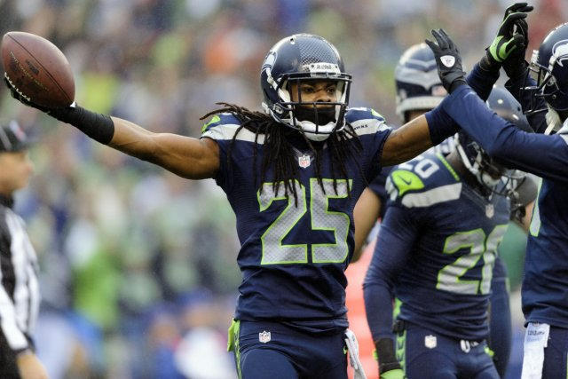 Richard Sherman s'est attiré la critique en s'autoproclamant... (Photo Steven Bisig, USA Today)