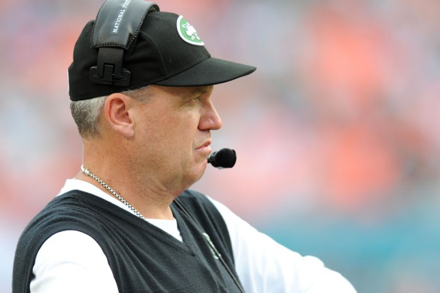 L'entraîneur-chef des Jets de New York, Rex Ryan.... (Photo Steve Mitchell, USA Today)