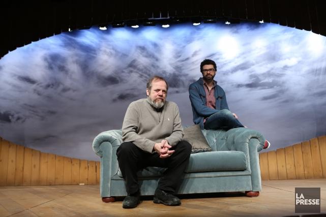 L'auteur Francois Archambault et son acteur Guy Nadon... (Photo: Martin Chamberland, archives La Presse)