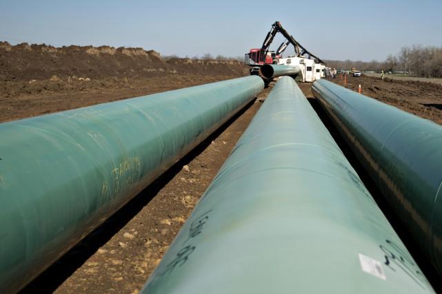 Comme l'oléoduc doit traverser la frontière entre les... (Photo Daniel Acker, Archives Bloomberg)