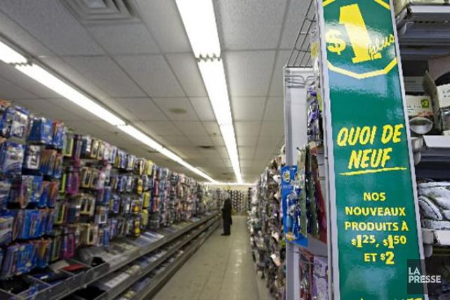 Dollaramaa fait part d'une baisse de 7,5% des... (Photo François Roy, archives La Presse)