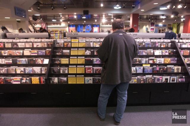 La part de marché des enregistrements musicaux québécois a diminué en 2013... (Photo: Martin Chamberland, archives La Presse)