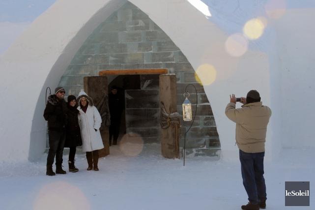 L'Hôtel de glace de Québec... (Photothèque Le Soleil, Erick Labbé)
