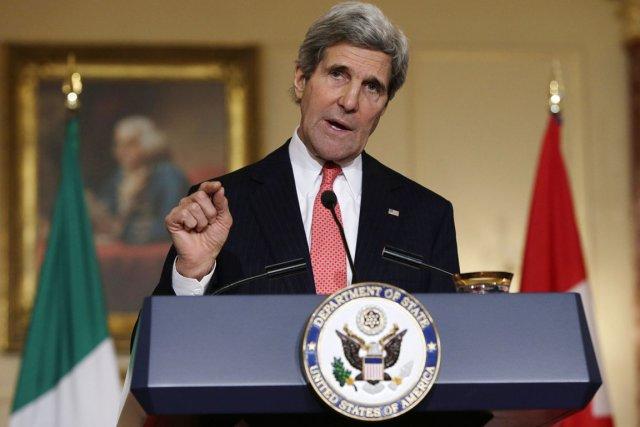 Le secrétaire d'État John Kerry.... (PHOTO GARY CAMERON, REUTERS)
