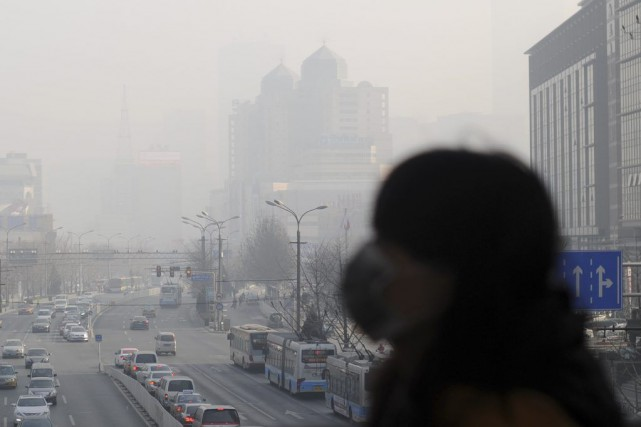 Les niveaux de pollution de l'air dans les... (PHOTO WANG ZHAO, AFP)