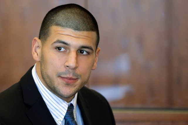 Aaron Hernandez... (Photo Brian Snyder, archives AP)